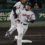 Kinugawa rounds the bases after his homer