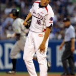 Mikinori Kato was roughed up by the Hanshin Tigers
