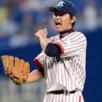 Muranaka celebrates his complete game shut-out win.