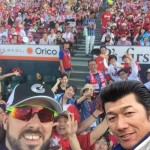 Tony and Miura take a selfie at the All Star game?